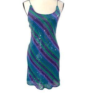 A J. Bari 100% silk .Party sequin dress/ 6